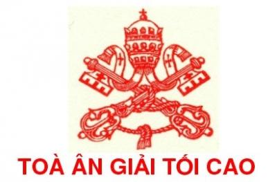 Sắc lệnh ban ơn toàn xá của Toà Ân Giải Tối Cao về Năm Thánh tôn vinh 117 Thánh Tử Đạo Việt Nam